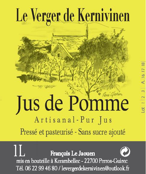 Préférence Cidre et jus de pommes du Verger de Kernivinen CY47